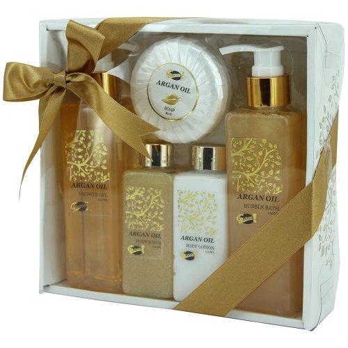 Coffret De Bain Pour Femme - Collection Luxury Argan Oil -...
