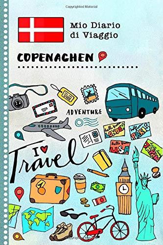 Copenaghen Diario di Viaggio: Libro Interattivo Per Bambini per Scrivere, Disegnare, Ricordi, Quaderno da Disegno, Giornalino, Agenda Avventure – Attività per Viaggi e Vacanze Viaggiatore