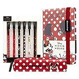 Disney Notebook, Pencil Case & Pen Set, Girls School Supplies, Minnie Mouse Gifts For Girls