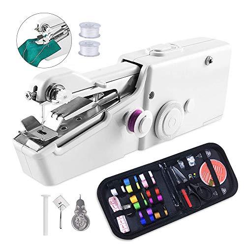 Gobesty Elektrische Handnähmaschine, Mini Handheld Nähmaschine Handnähmaschine Schnellstichwerkzeug Für Kleidung Stoff, Vorhang, Schal, DIY