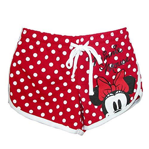 Disney Junior Youth Girls Minnie Mouse Peeking Short, Red Polka Dot Medium
