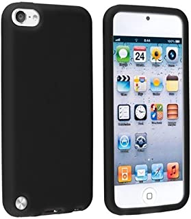 Touch 6 Case / Touch 5 Case, [Black] Matte Soft Rubber Silicone Gel Anti Slip Slim Grip Cover Case for Apple Ipod Touch 5 (5th Generation) and Compatible with Ipod Touch 6 (6th Generation)