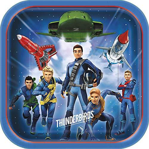 Unique Party - 48925 - Thunderbirds assiette en carton - pack of 8