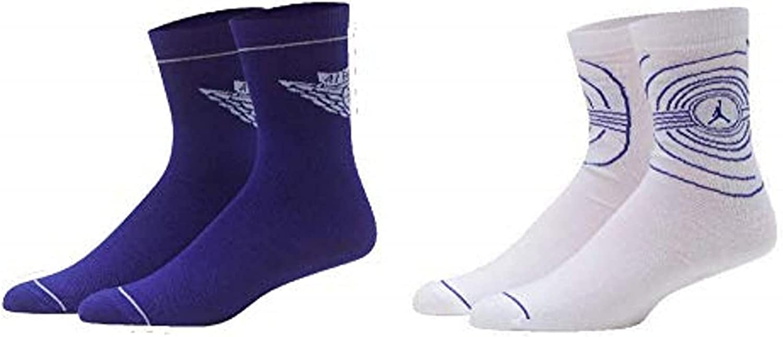 JORDAN High Crew Socks 2 PK Kids Shoe SIze 10C-3Y/Sock Size 5-7