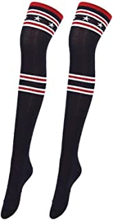 Calcetines Damas Overknee Cálido Invierno Largos Calcetines Retro Rodilleras Mode De Marca Medias De Tubo Calcetines Clásicos Y Cómodos De Ocio Color Sólido De La Vendimia Niños Básicos