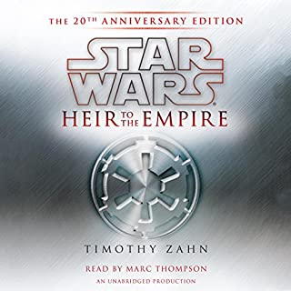 Star Wars: Heir to the Empire     (20th Anniversary Edition), The Thrawn Trilogy, Book 1              Written by:                                                                                                                                 Timothy Zahn                               Narrated by:                                                                                                                                 Marc Thompson                      Length: 13 hrs and 9 mins     152 ratings     Overall 4.7