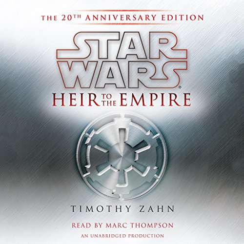 Star Wars: Heir to the Empire     (20th Anniversary Edition), The Thrawn Trilogy, Book 1              De :                                                                                                                                 Timothy Zahn                               Lu par :                                                                                                                                 Marc Thompson                      Durée : 13 h et 9 min     11 notations     Global 4,5