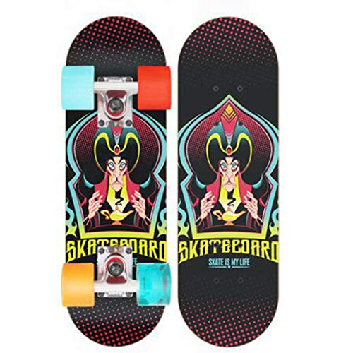 XIAOJIE Skateboard Deck Erwachsene Kinder Doppelte Tritt-Fähigkeit Skateboard Maple Deck
