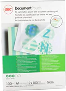 GBC Document Laminating Pouches A4 with 2 x 100 Micron Gloss - Pack of 100