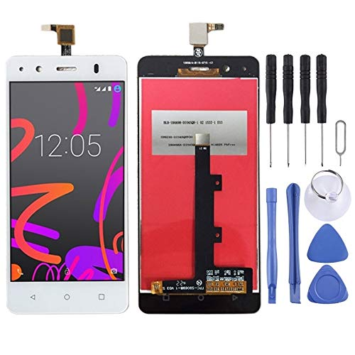 Dongdexiu Piezas de Repuesto del teléfono Celular Pantalla LCD y Conjunto Completo de digitalizador for BQ Aquaris M4.5 Accesorio de Repuesto de teléfono (Color : Blanco)