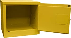 Jamco Model BA06 6-Gallon Narrow Safety Flammable Steel Cabinet for Flammable Liquids Manual Close Doors(23-Inch x 18-Inch x 22-Inch) Yellow 1 Count