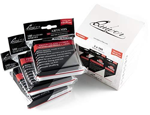 Quiver Time Sammelkarten Einsteckhüllen (3-Pack) 300 individuelle Kartenschutzhüllen | Verhindern die Kratzer und verbogene Ecken