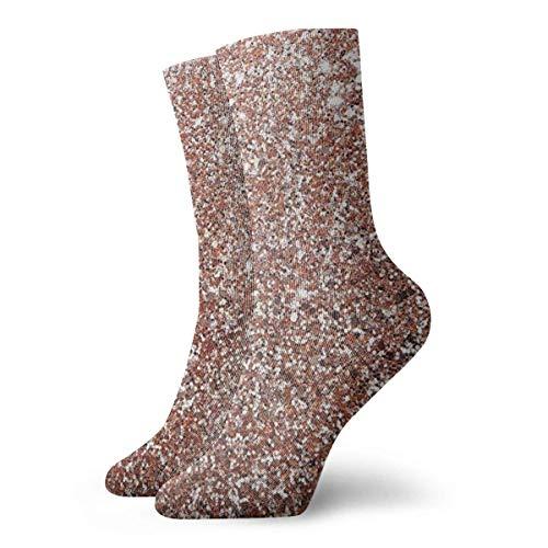 Warm-Breeze Rose Gold Compression Socks Unisex Socks Fun Fun Crew Socks Thin Socks Short Ankle For Outdoor Athletic Moisture Wicking