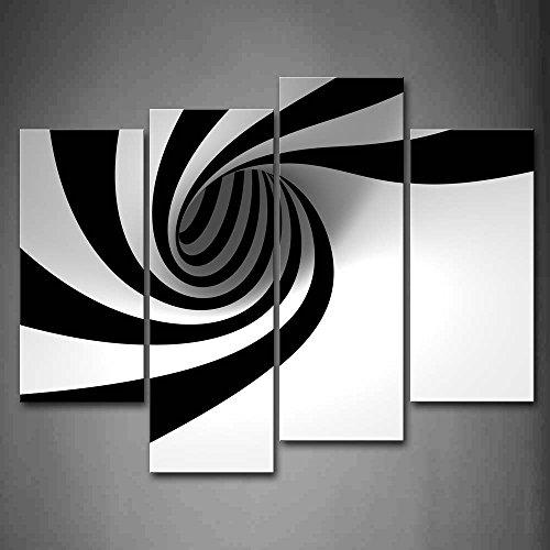 First Wall Art Nero E Bianca Grigio Nero Bianca Buco Pittura di Arte della Parete La Stampa su Tela di Canapa Astratto Quadri d'illustrazione per L'Ufficio Domestico Decorazione Moderna
