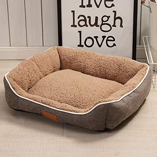 N-B La Perrera para Mascotas se Puede Utilizar en Four Seasons.Arena para Gatos, tapete para Mascotas, Peluche para Perros pequeños y medianos, Cama para Perros cálida y cómoda