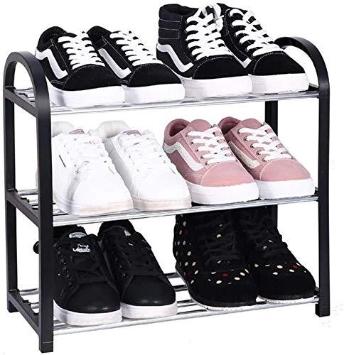 Zapatero Negro multi-capa de plástico simple zapatero Asamblea hogar zapatero zapatero de almacenamiento detrás de la puerta (Almacenamiento mínimo de 6 pares de zapatos máxima de almacenamiento de 20