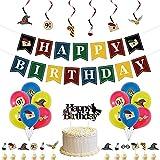 CYSJ Cumpleaños Decoracion, 32pcs Kit de Decoraciones de Cumpleaños de Harry Potter, Decoracion de Fiesta Mago, Globos de Látex de Harry Potter Pancarta de Fiesta, Estandarte de Cumpleaños
