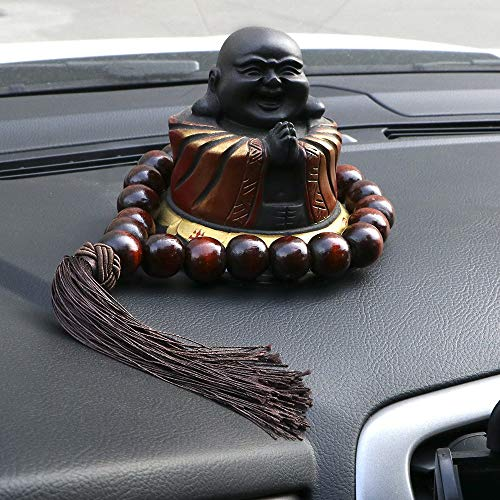 CHENTAOCS LEEPEE Wood Buddha Beads Interior Accessories Car Gear Shift Decoration Car Ornament 20mm Rearview Mirror Hanging Pendant