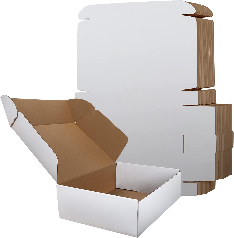 RLAVBL Shipping Boxes 12x9x3 Set of 20, White Corrugated Cardboard Box