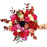 Ramo de rosas Coliseo - Flores RECIÉN CORTADAS y NATURALES de Gran Tamaño - ENTREGA EN 24h con Dedicatoria Personalizable Gratuita - FLORES FRESCAS PARA DEDICAR