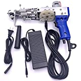 Electric Carpet Tufting Gun Cut Pile Electrictufting Gun Industrial Embroidery Machine Electric Punch Needle Looped Pile Rug Tools for High-Speed Weaving of Carpets 5-40 Stitches/sec 100V-240V