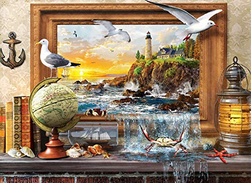 Jigsaw Puzzle 1000 Pieces, Everything About Marine Life Puzzle for Adults, Quarantine Puzzle, Lockdown Puzzle Isolation Activity Ideas