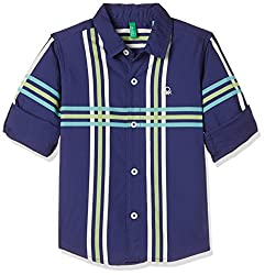 United Colors of Benetton Boys Striped Regular Fit Shirt