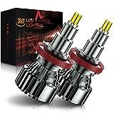 AUXIRACER Lampadine H11/H8/H9/H16JP LED Auto , 360°CSP 60W 6000K 16000LM IP65 - Kit Lampada Sostituzione per Alogena Lampade e Xenon Luci, 2 Lampadine