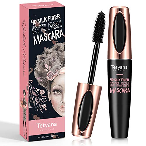 4D Silk Fiber Lash Mascara Waterproof, Luxuriously Longer, Thicker, Voluminous Eyelashes, Long-Lasting, Dramatic Extension, Smudge-proof, Hypoallergenic Formula
