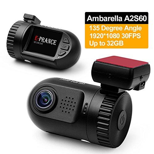 E-PRANCE Mini 0801 Car DVR Dash Camera Ambarella A2S60 Chip 5M pixel CMOS + High Resolution Full HD 1080P 30 FPS + G-sensor + License Plate + 135 Degree Wide Angle View