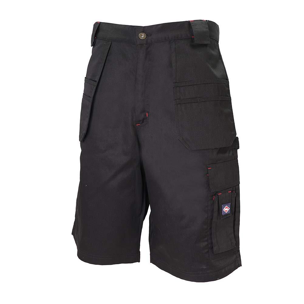 Lee Cooper Workwear LCSHO810 Mens Soins Durable tiss/é facile S/écurit/é travail confortable flexible multi Holster Pocket Cargo Shorts Pantalon Noir Taille 42 taille