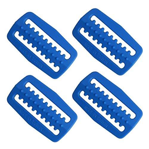 Scuba Choice Scuba Diving Plastic Weight Belt Webbing Keeper Retainer (4-Piece) Pack Set, Blue