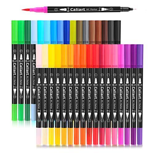 Caliart 34 Dual Brush Pens Art Markers