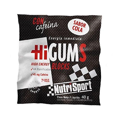 Nutrisport Higums Blocks 20 Sobres (100 gominolas) 40g Cola con Cafeína