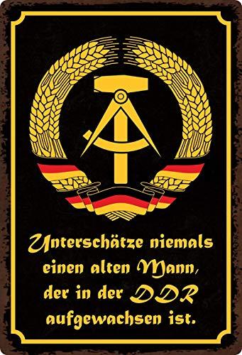 Plåtskylt 20 x 30 cm krydda i DDR växa ordspråk dekor presentskylt