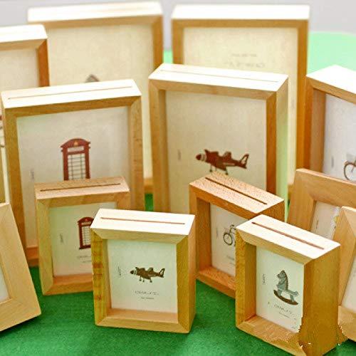 Marco de fotos de madera maciza simple, marco de fotos creativo de 40,6 cm, marco de fotos de 6 pulgadas, 24 pulgadas, decoración del hogar L