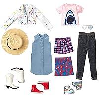 クリエイタブルワールド 着せ替えファッション 11点セット es-826 サメのTシャツ入り カジュアル 普段着 スタイル マテル社 Creatable World Everyday Style Fashion Set Mattel (GKV36)