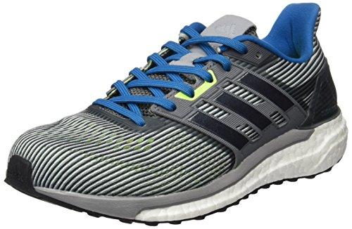 adidas Herren Supernova M Sneakers,Grau (Grivis/negbas/azuuni), 44 2/3 EU