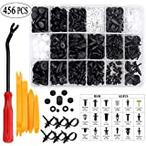 Uolor 456 Pcs Car Retainer Clips & Plastic Fasteners Kit with Fastener Remover,...
