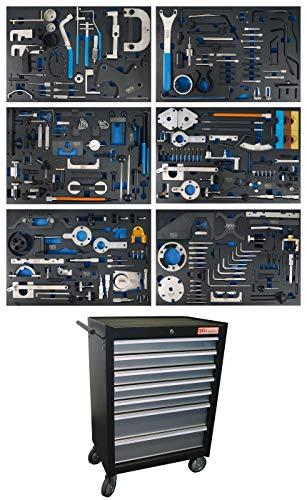 BGS 4115 | Werkstattwagen | 7 Schubladen | Motor-Einstellwerkzeug-Sätze