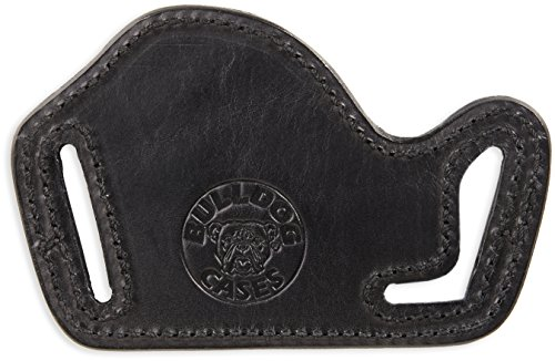 Bulldog Cases LF-S/M Leather Lay Flat Holster, Black, Right