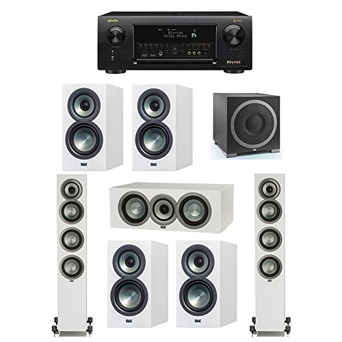 Best Review Of ELAC Uni-Fi Slim White 7.1 System with 2 ELAC FS-U5 Floorstanding Speakers, 1 ELAC CC...
