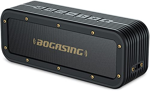 BOGASING M4 Altavoz Bluetooth Portátil Inalámbrico Exterior, 40W Sonido estéreo HD y Bajos mejorados, Protección contra el Agua IPX7, 24 Horas de Reproducción, Construido en Micrófono, TF Tarjeta