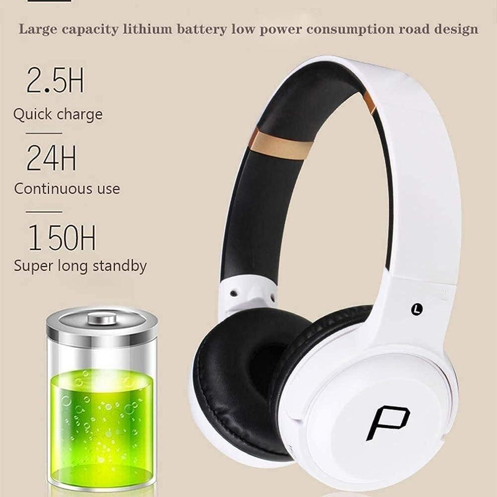 センター専門用語手がかりDUYUBING ワイヤレスヘッドセット、Bluetoothヘッドセット、ヘッドフォンを折りたたみ、防水ヘッドセット、ヘッドセットを充電する重低音ヘッドフォン、ポータブルヘッドフォン、 (Color : Black)