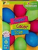 Eierfarben HEITMANN Super Color Trio für weiße und braune Eier, Super farbstark, Extra schnell und einfach anzuwenden