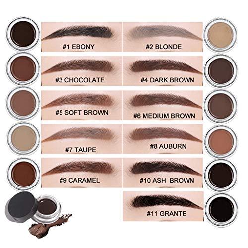 Zuanty Eyeliner gel longue durée crème pour les sourcils maquillage maquillage cosmétique imperméable à l'eau 11 couleurs pour sourcils teinté-6