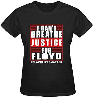 YUSMO I Can't Breathe Men's Women's Crewneck T-Shirt Cotton Loose-fit Short Sleeves