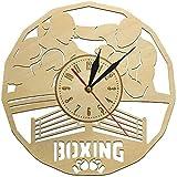 Reloj de pared Boxeador boxeador hombre decorado reloj de pared mudo inauguración de la casa reloj de pared accesorios de boxeo GIMNASIO arte de lucha decoración de la pared regalo para hombres 30 x 3
