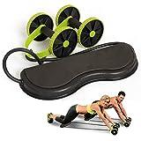 BOLLAER - Rodillo de potencia abdominal para entrenamiento de cintura para adelgazar con núcleo de doble rueda, fitness, equipo de gimnasio en casa para ejercicios de fuerza abdominales