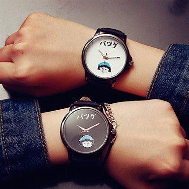 FENKOO Korea neuen Cartoon analoge Quarz-Armbanduhr Frauen Uhr Kursteilnehmeruhr Paaruhren